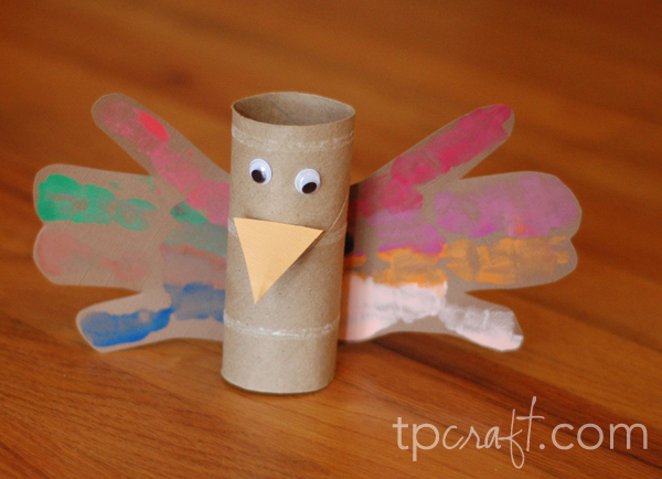 Toilet paper roll handprint turkey for Toilet paper roll crafts thanksgiving
