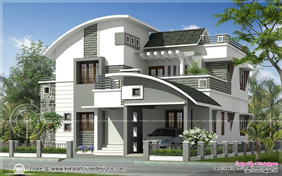 2200 Sq Ft Modern Villa Exterior Home Kerala Plans