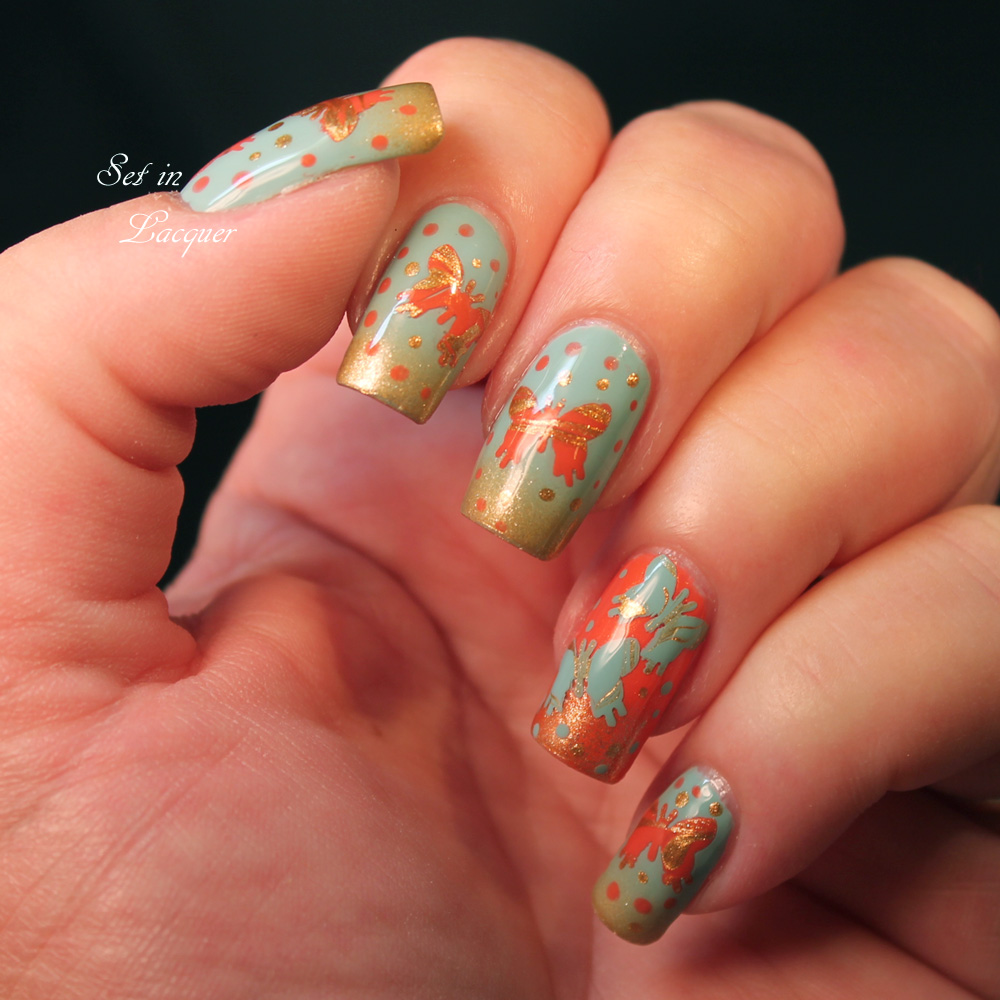Battle of the Bloggers - DIY Butterfly Decal Nail Art