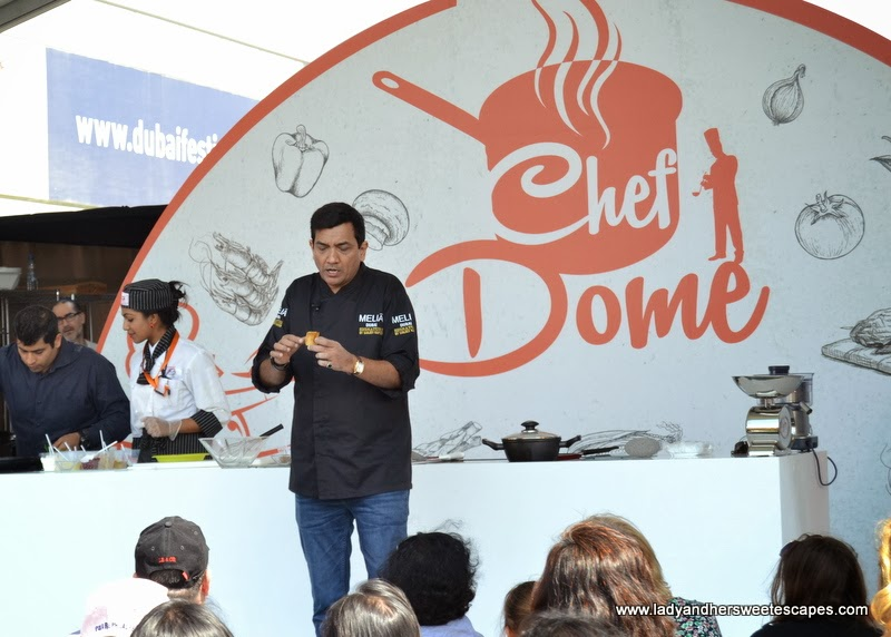 Chef Sanjeev Kapoor at the Dubai Food Carnival