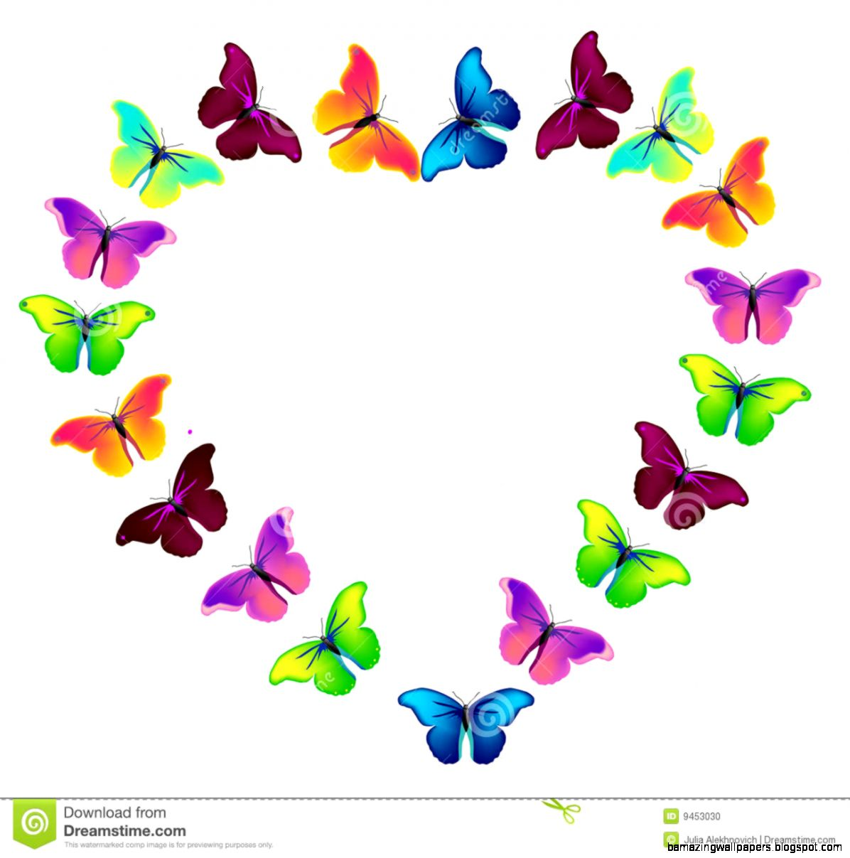 Colorful Butterflies Flying Stock Photo   Image 24090080