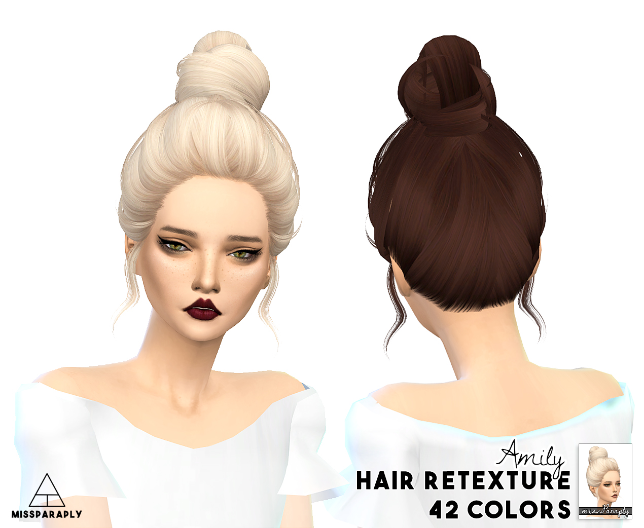 Miss Sims 4 Hair Retextures Paraply