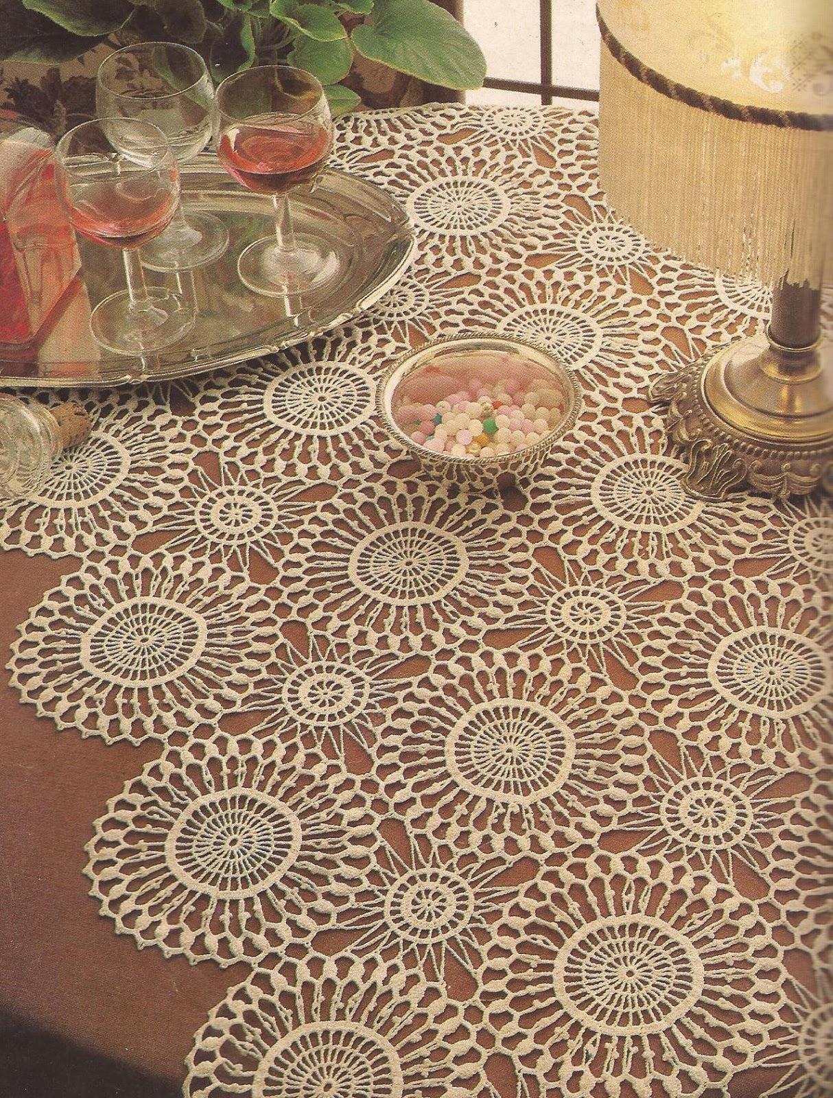 camino de mesa de crochet patrones imagui