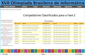 OBI - Olimpíada Brasileira de Informática