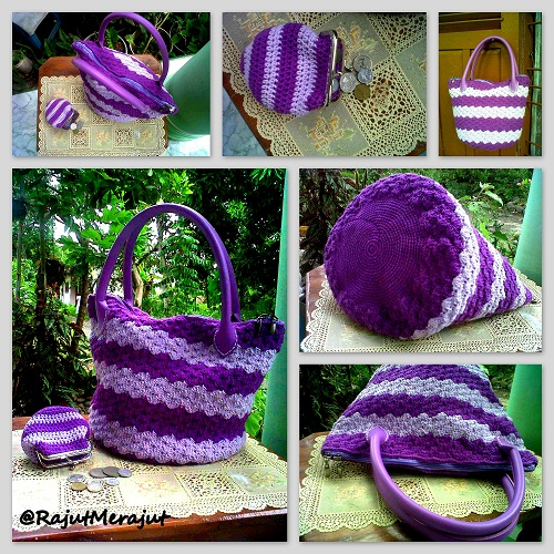 Crochet Bag, Free Pattern, Crochet Totebag, Tas Rajut