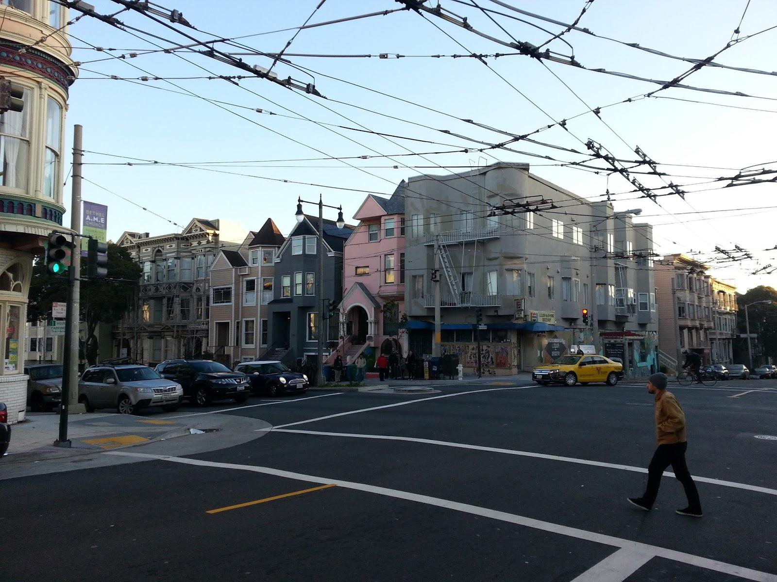 San Francisco - Vue de notre arrêt de bus