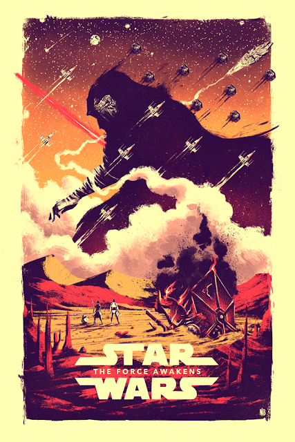 Star Wars: The Force Awakens Screen Print by Marie Bergeron