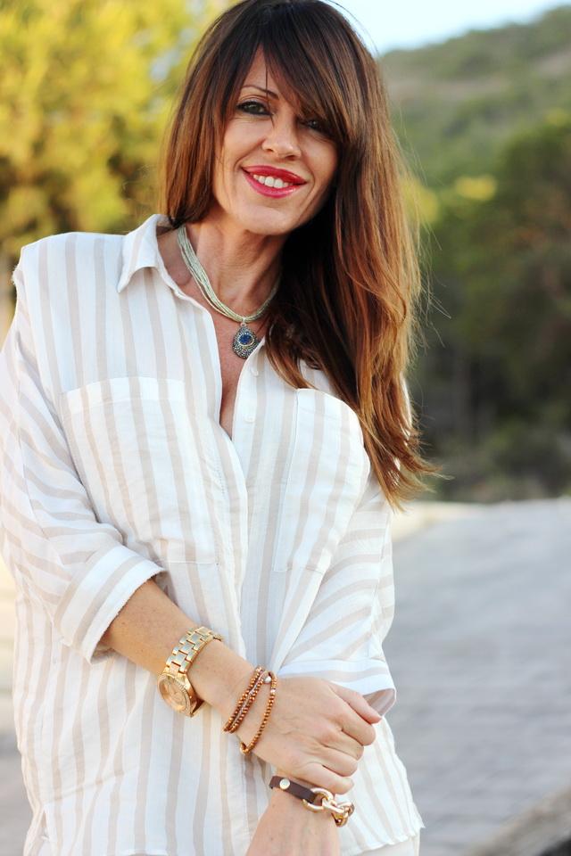 Rayas + leopard print - stilettos - total white - streetstyle