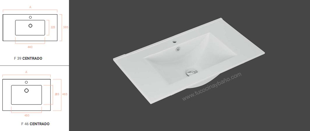 lavabo ceramico fondo reducido