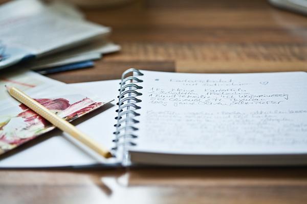 Applewood House Notizbuch Rezepte handschriftlich