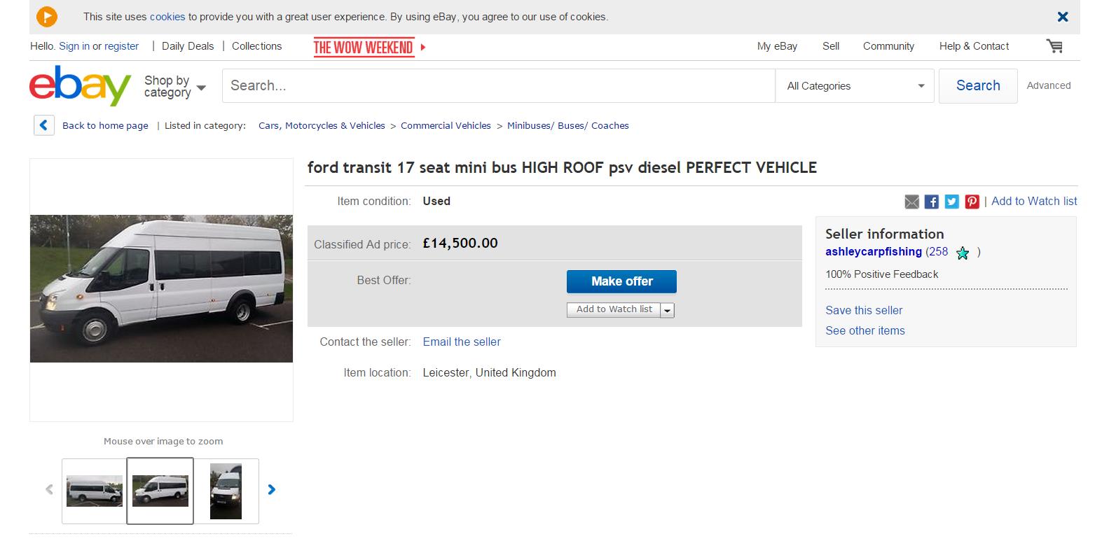 Thread scam on ebay ford transit 17 seat mini bus 2010 lt60dde fraud lt60 dde 09 dec 1
