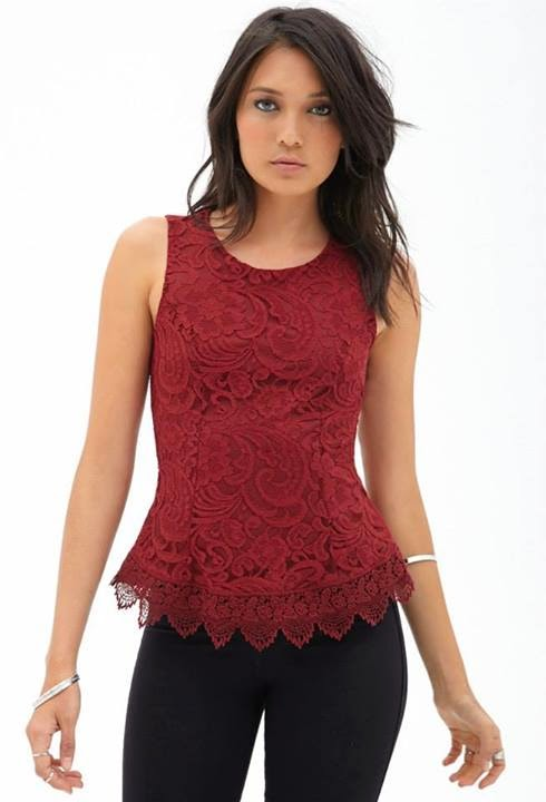 Red Tops For Western Girls
