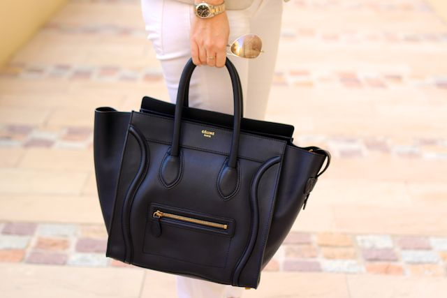 buynow/bloglater: Celine Mini Luggage in Navy Blue