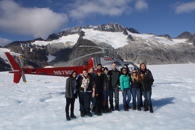 Del Sol Juneau team on Mendenhall Glacier