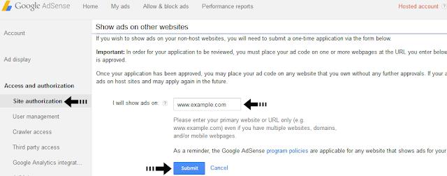 apply AdSense