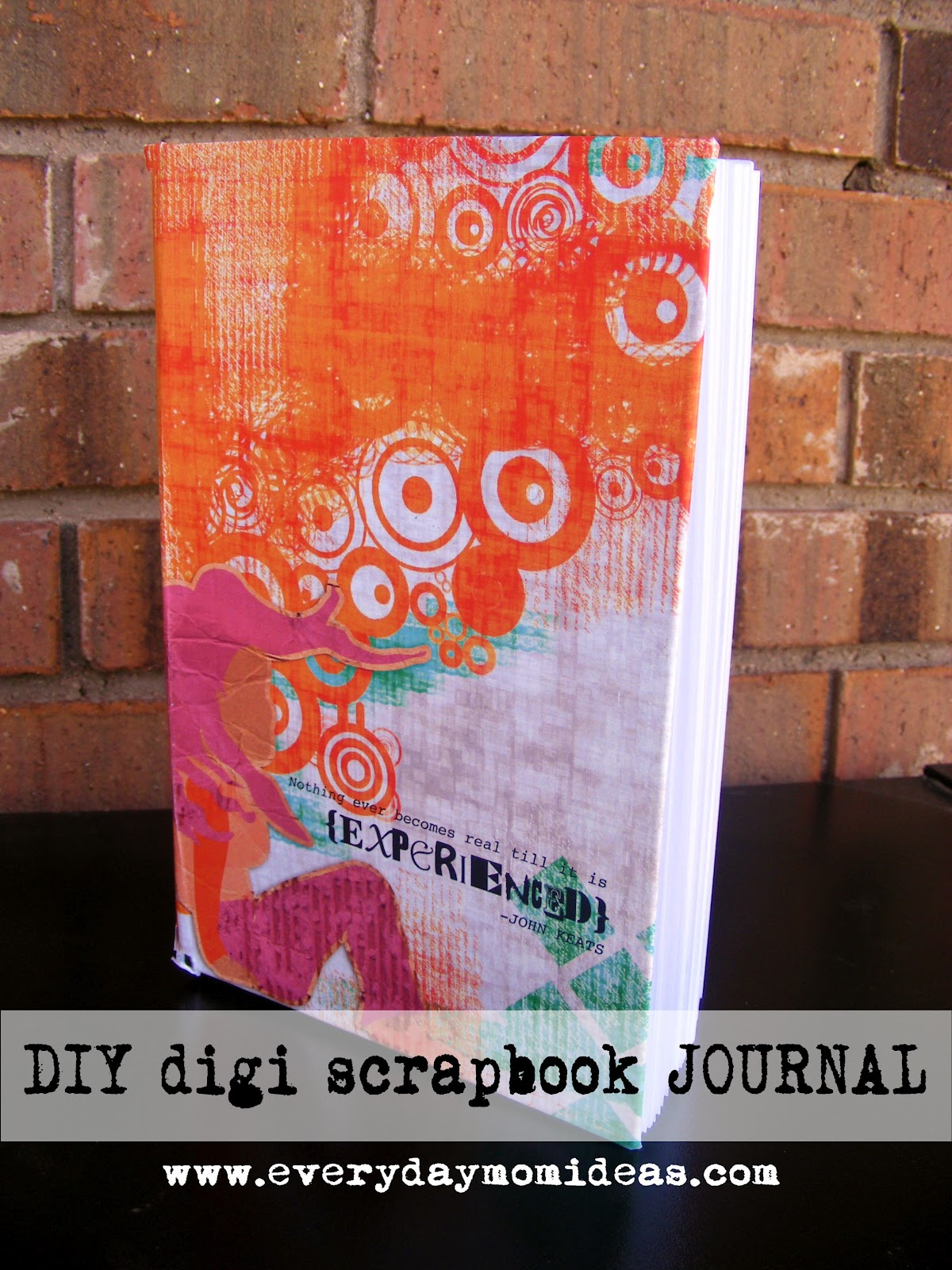 How to make scrapbook journal - The Making Of A Handmade Journal Digi Scrapbook Style Everyday Mom