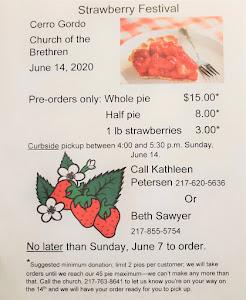 Strawberry Festival--Curbside Edition