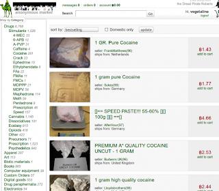 Toutes les drogues sont en vente libre sur internet !