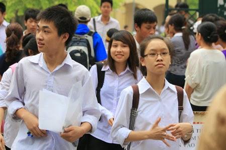 điểm thi điểm đầu vào lớp 10 các trường công lập 2014 tại Hà Nội