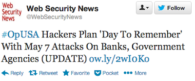"#OpUSA Hackers plan ""Day to Remember"" with May 7 attacks on banks, government agencies"