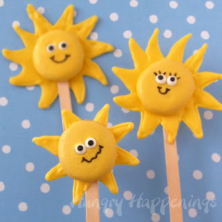 White Chocolate Sunshine Lollipops