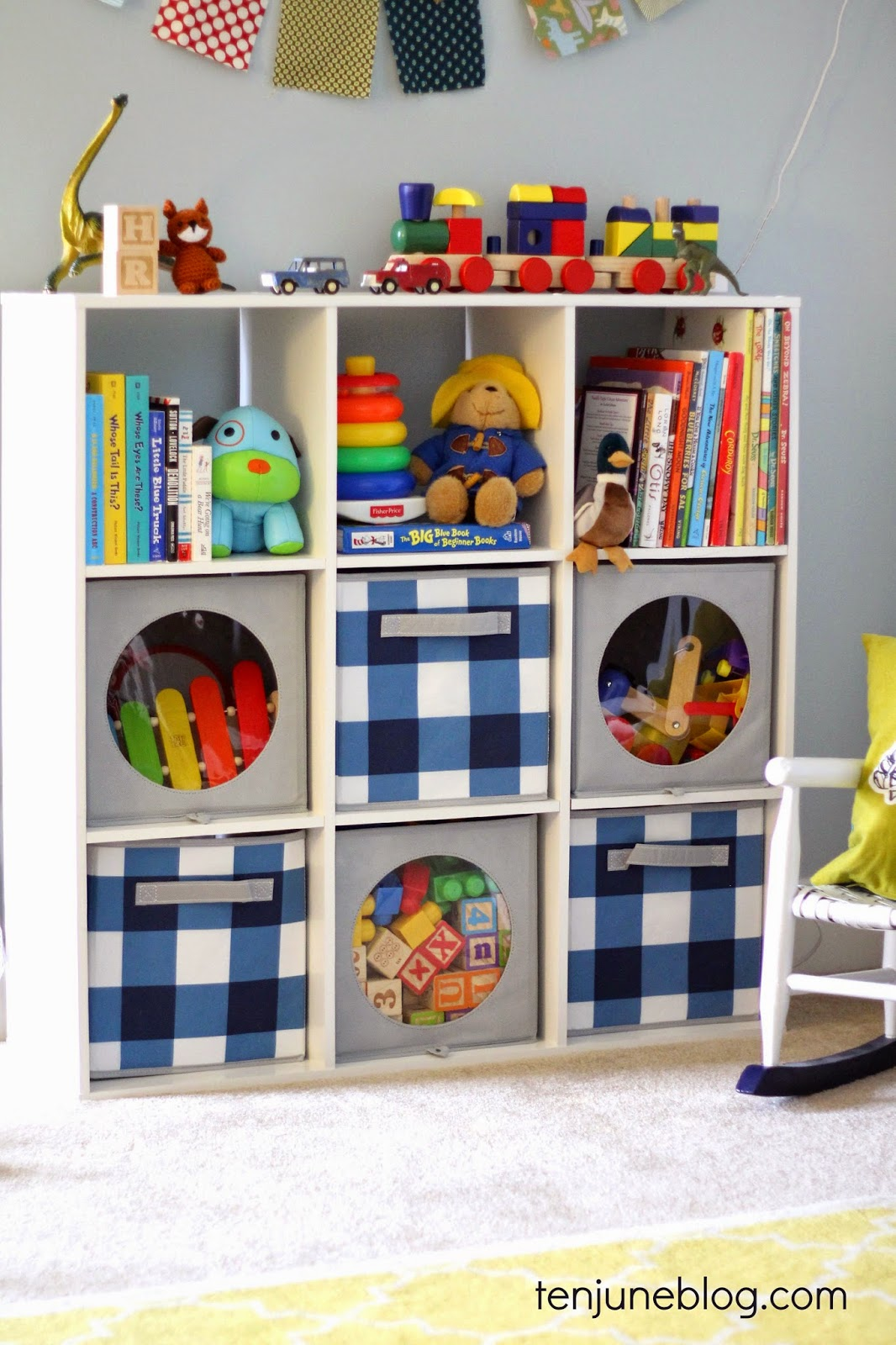 Ten june kids room play room toy storage ideas for Kids room storage ideas