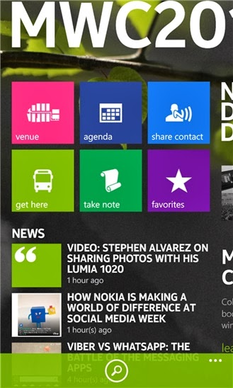 Official Nokia Mobile World Congress 2014 App