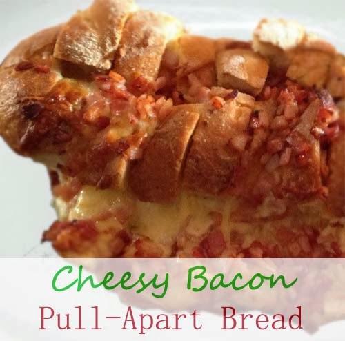 Cheesy Bacon #Pull_Apart_Bread. Click For Recipe