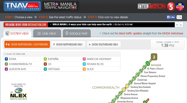 MMDA and TV5 Joined in a Project Called Metro Manila Traffic Navigator