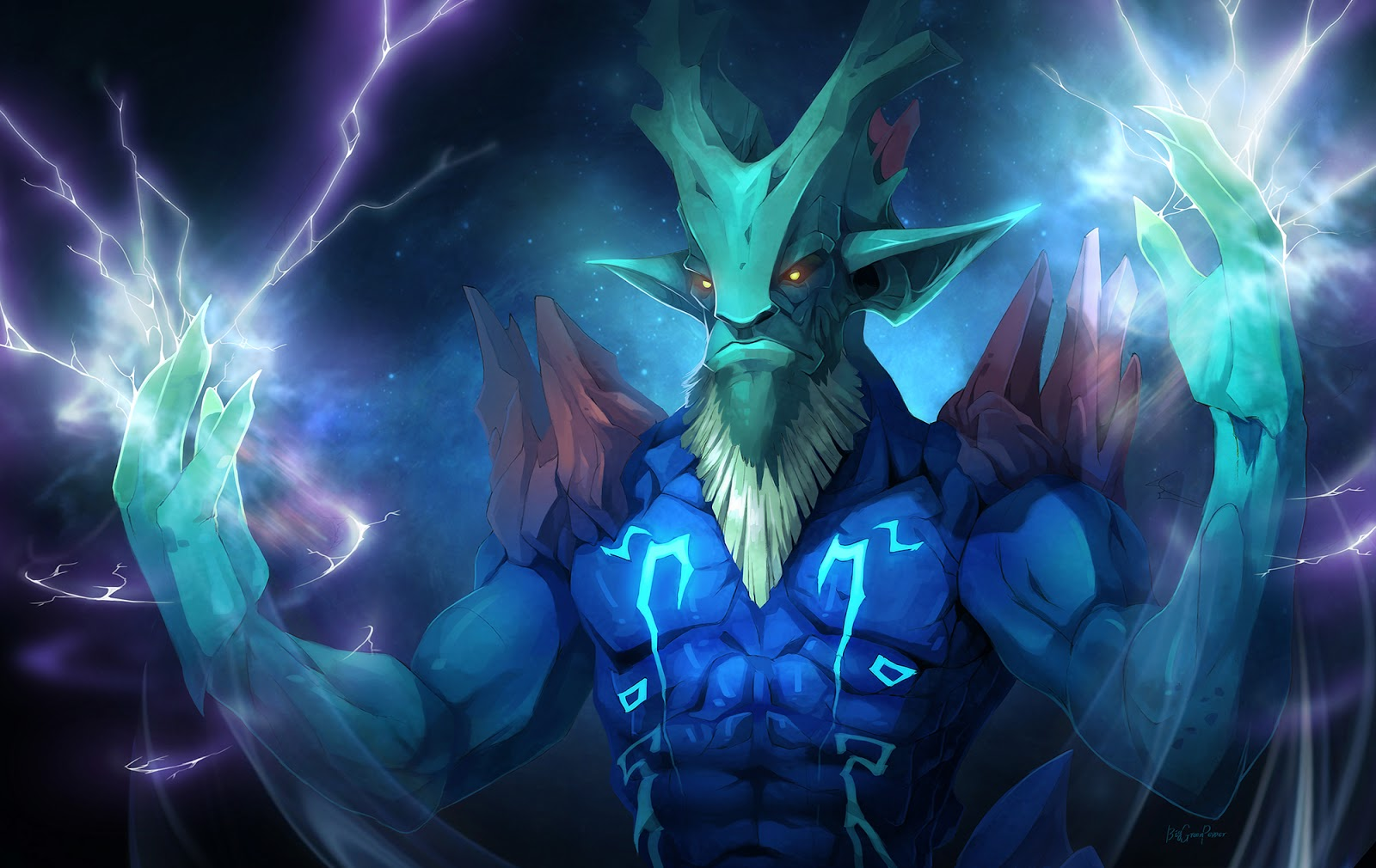 dota 2 wallpapers dota 2 fan art leshrac by biggreenpepper