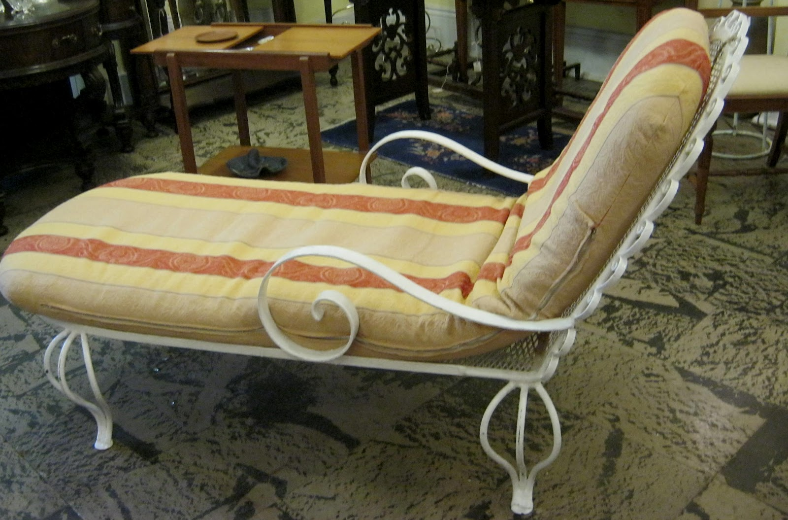 Funk gruven a z circa 1950 iron and steel chaise for 1950 chaise lounge