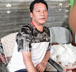 Bimal Gurung at  Gorkha Janmukti Morcha office  Patlabas in Darjeeling