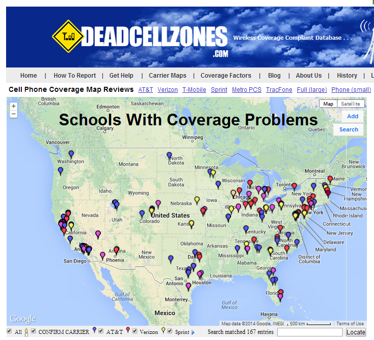 Cell Phone Coverage At Schools