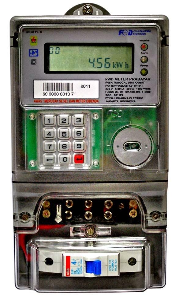 KWH meter Prabayar Electronic Fuji