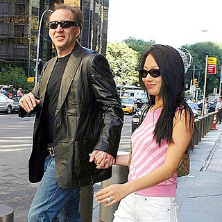Nicolas Cage with Wife