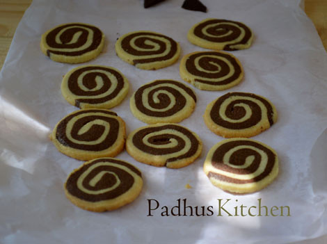 Chocolate pinwheel cookies