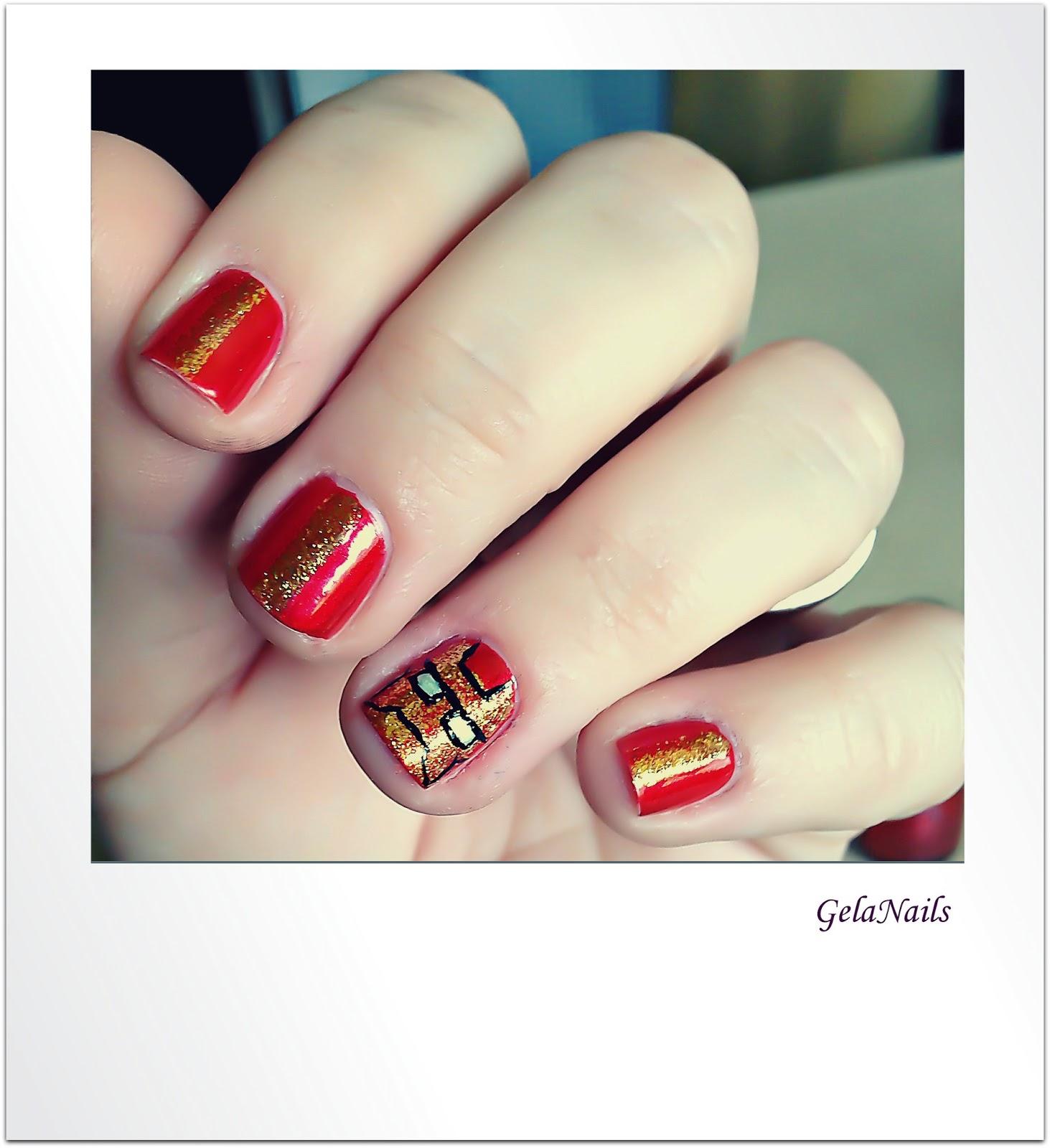 IRONMAN 3 nails - Gela\'s Blog