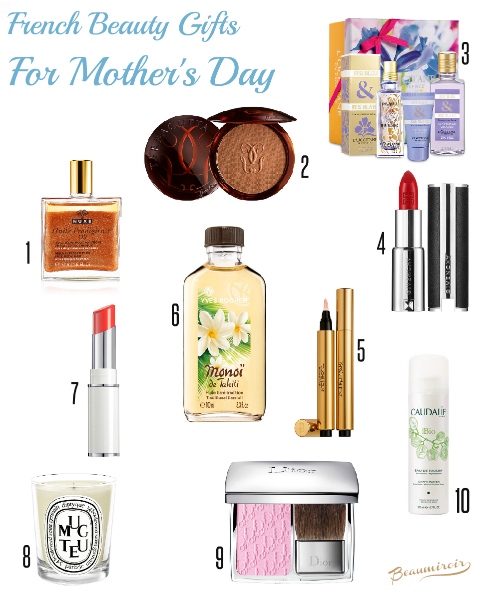 10 ideas for mother's day. French beauty gifts for all budgets.