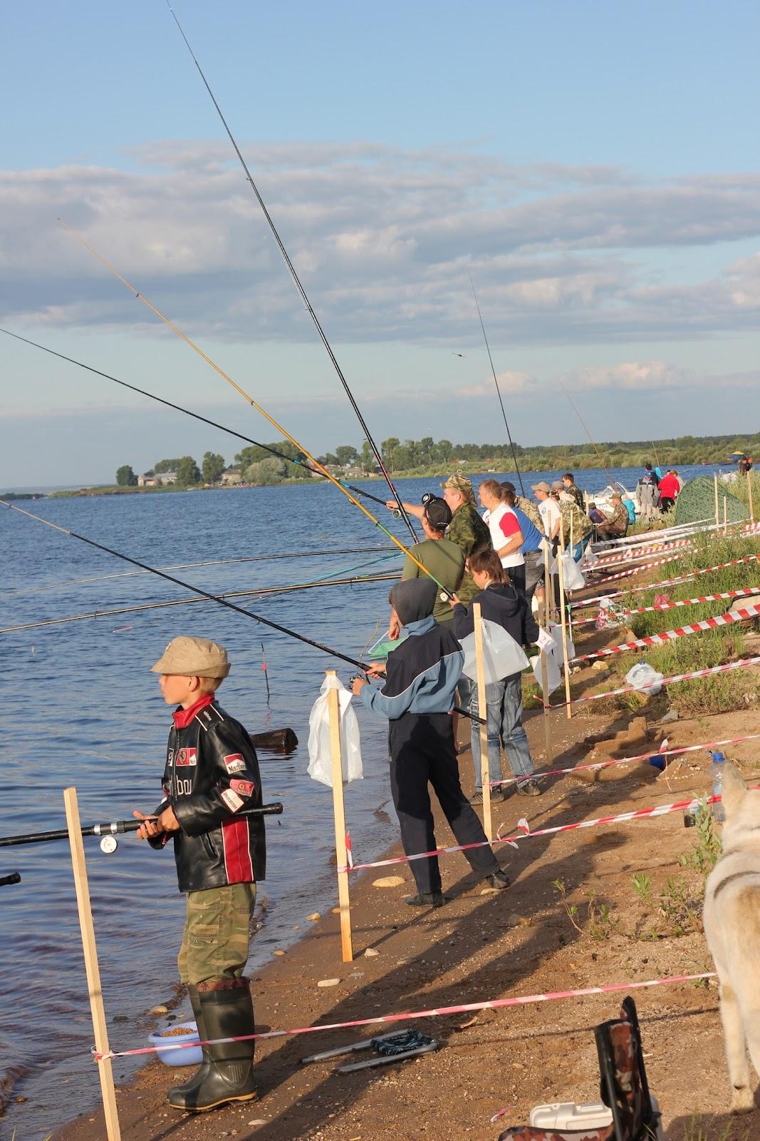 Соревнование по ловле рыбы
