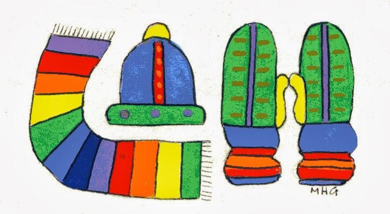 melanie greenberg illustrations scarf hat mittens