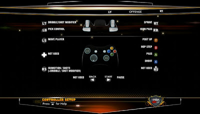 NBA 2K13 Game Controls