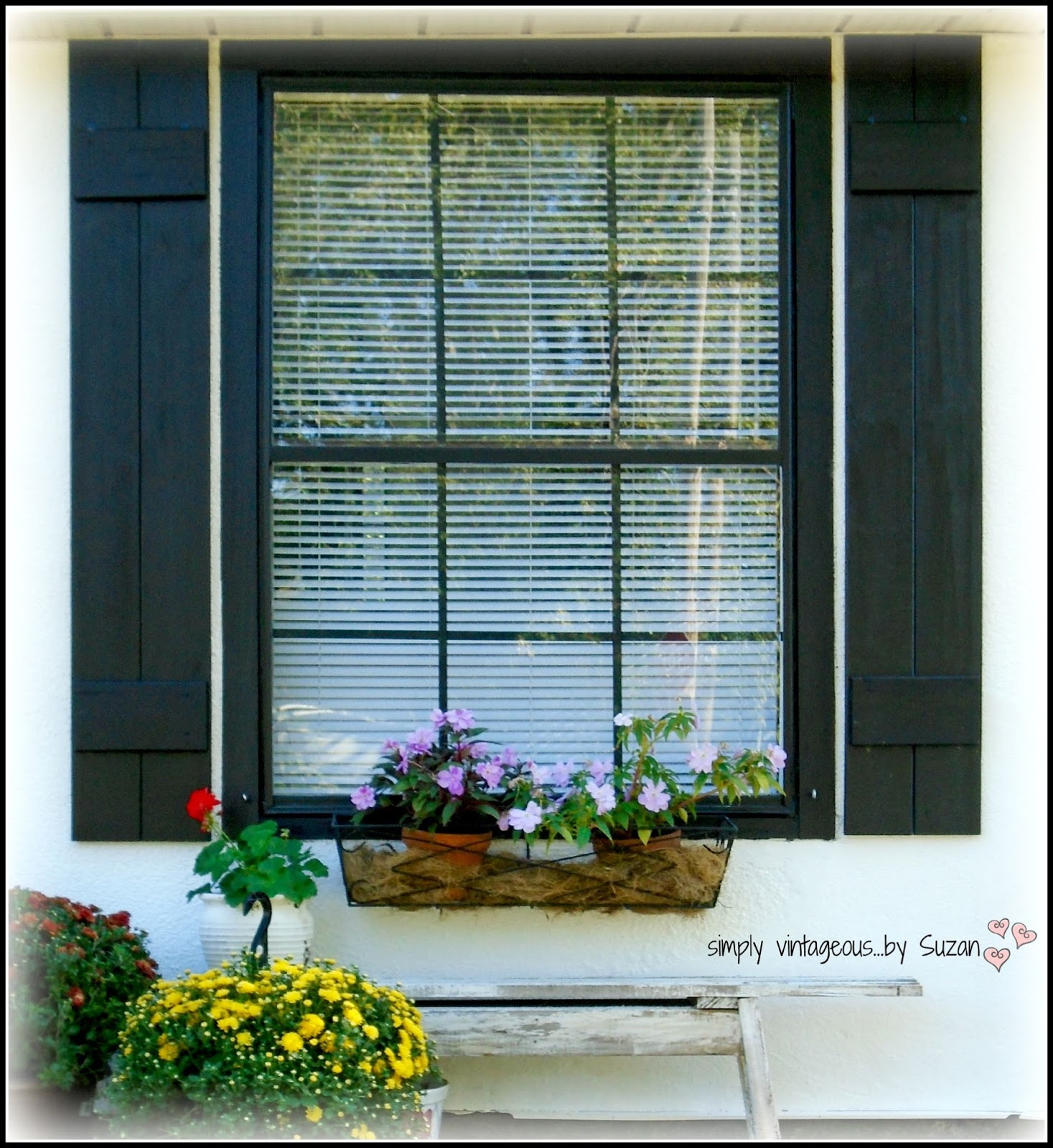 Simply vintageous by suzan we diy 39 ed outdoor shutters for Make your own shutters