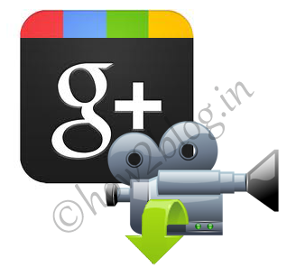 download video from Google Plus, download video icon, Google+ videos download