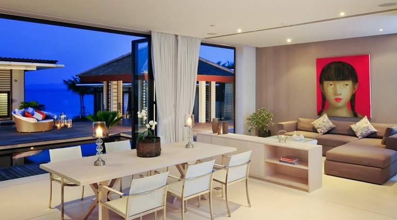 Dining room in Contemporary villa in Phuket, Thailand