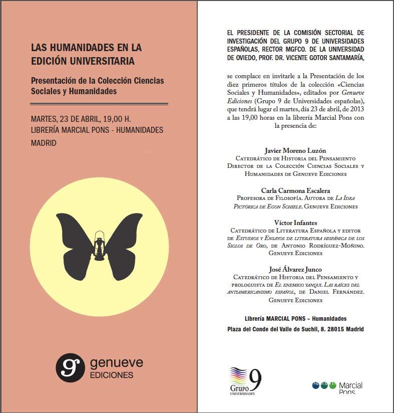 Pura tura las humanidades en la edici n universitaria - Libreria universitaria madrid ...