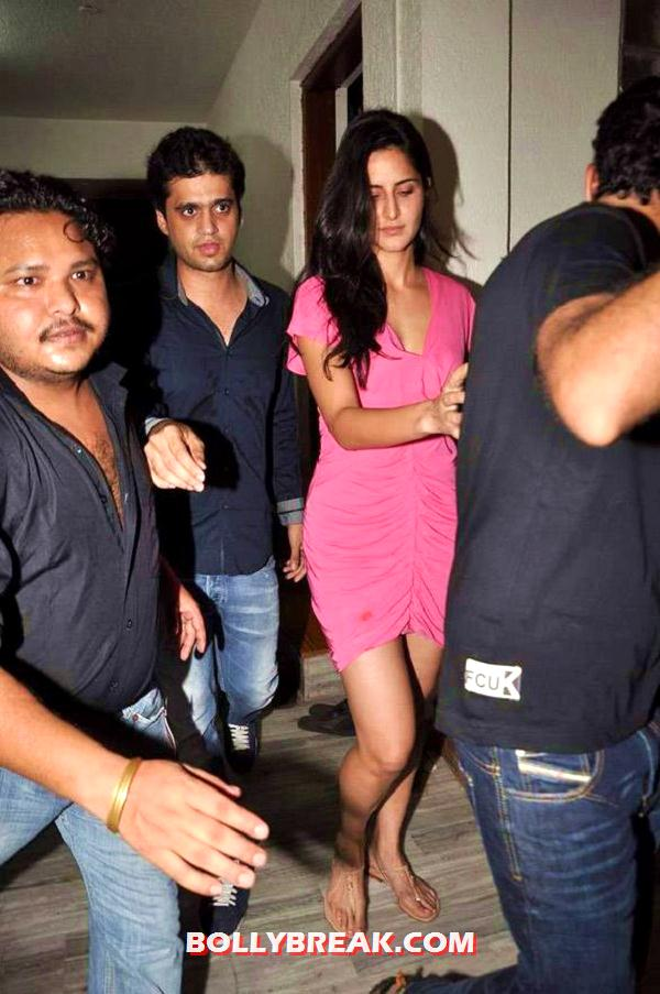 Katrina Kaif in pink dress - Katrina Kaif at Ranbir Kapoor Birthday Bash  in Hot Pink Dress