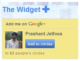 Google plus widget for blog