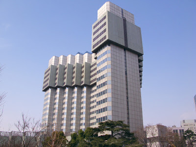 Tokyo's shrinking building, the Grand Prince Hotel Akasaka.
