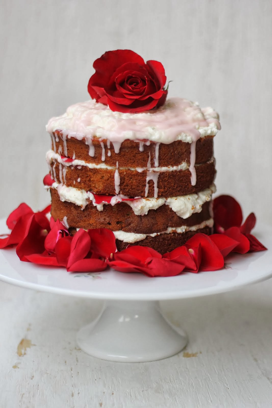 Rose Water Raspberry Tea Cake