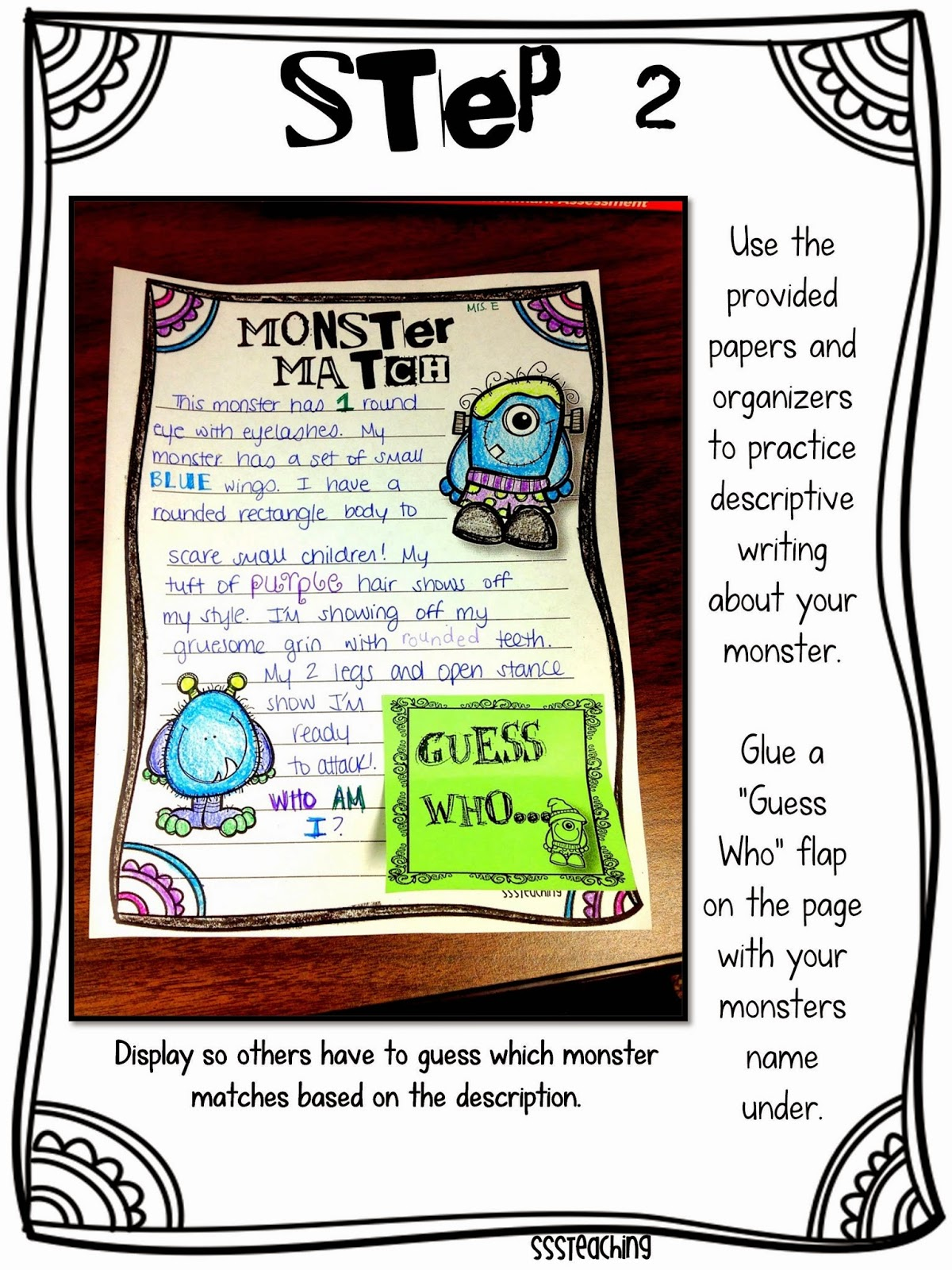 descriptive writing monster match sssteaching you can also use this bie i created awhile back to work on descriptive writing what better than to use poprocks click the pic to go to the